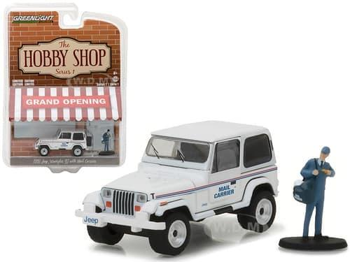 TERLARIS Greenlight 1/64 1991 Jeep Wrangler YJ with Mail Carrier Hobby Shop