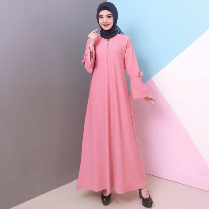 BAJU GAMIS WANITA GAMIS BABAT POLOS TANGAN PITA 8965 – Hitam / Fashion / Fashion Wanita / Baju Muslim / Baju Muslim & Jumpsuit