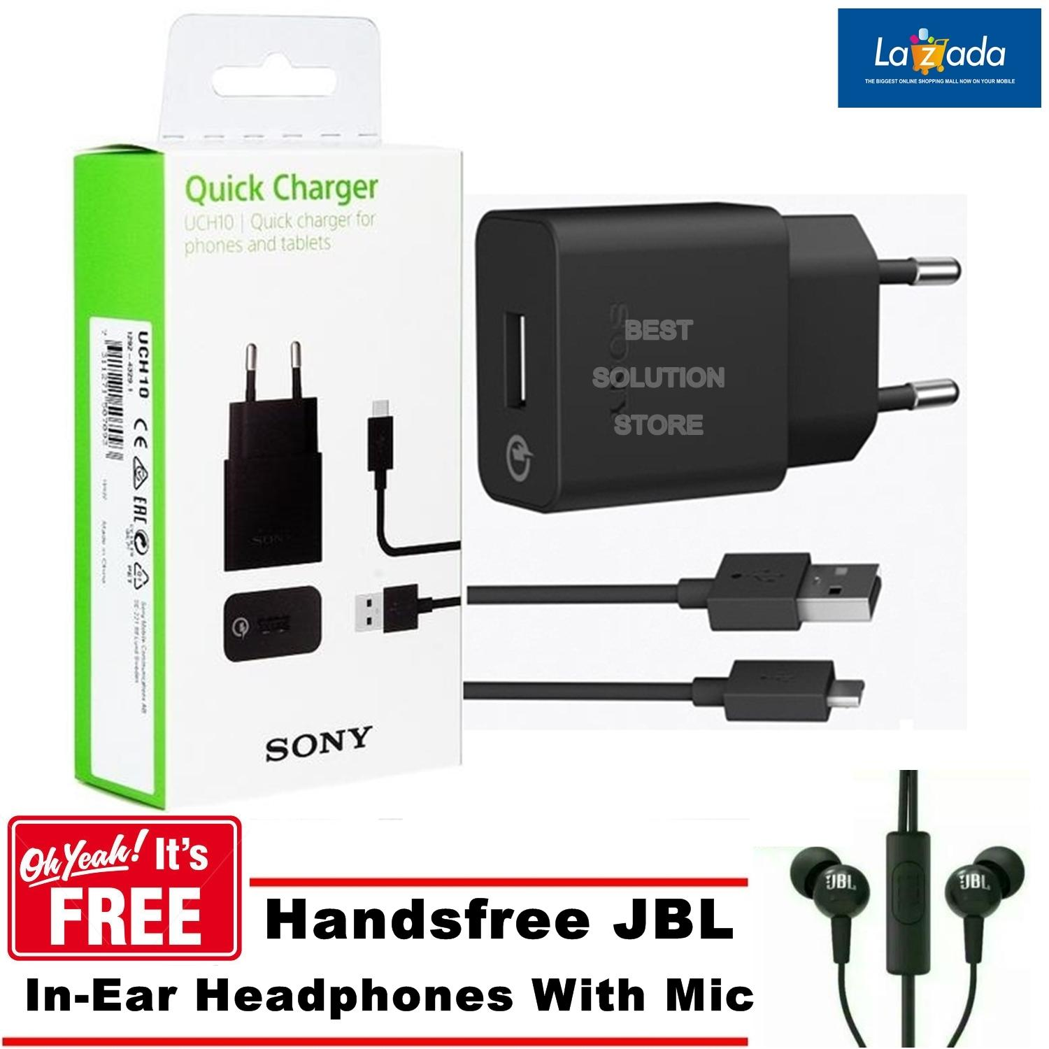 Sony Charger UCH10 Fast Charging Micro USB Qualcomm 2.0 Original For Xperia Z3+ Z4 Z5 +