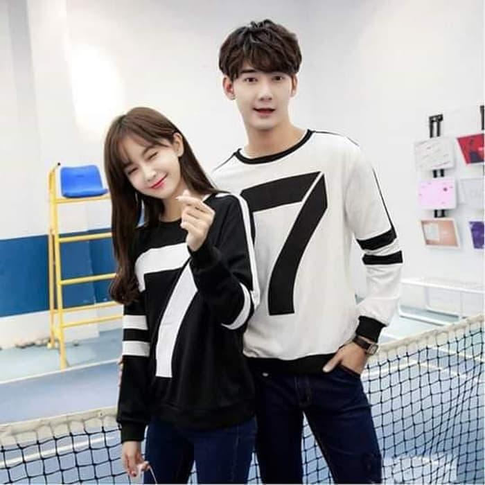 BUTIKONLINE83 - Pusat Sweater Baju Couple Online - Fashion Pakain Pasangan    Kembar   Samaan   f6dadcf769