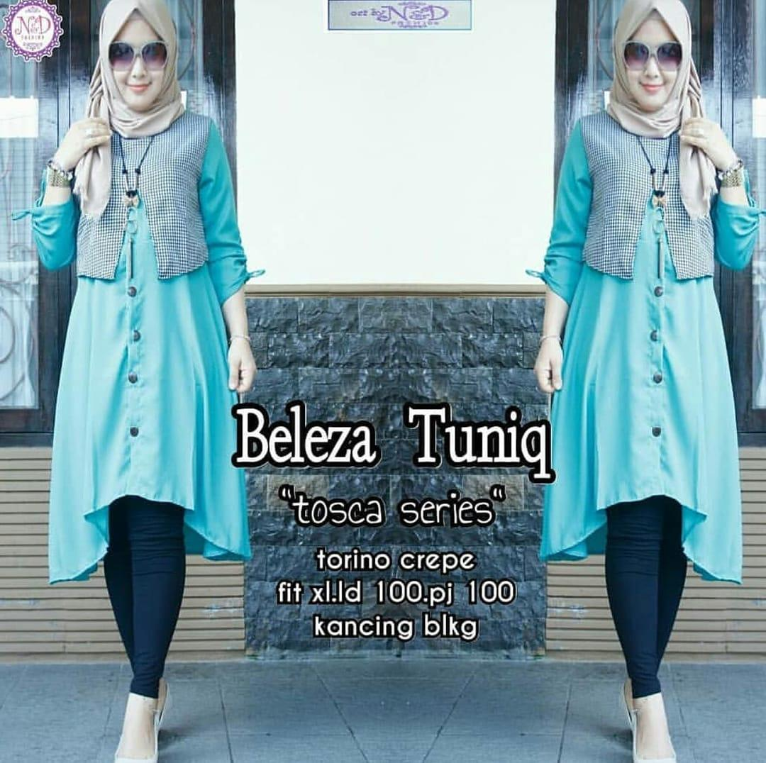 Baju Muslim Modern Blus Beleza Tunik Linen Ruby Panjang Blouse Casual Hijab  Tunic Pakaian Terbaru 2018 5e42e22c1a