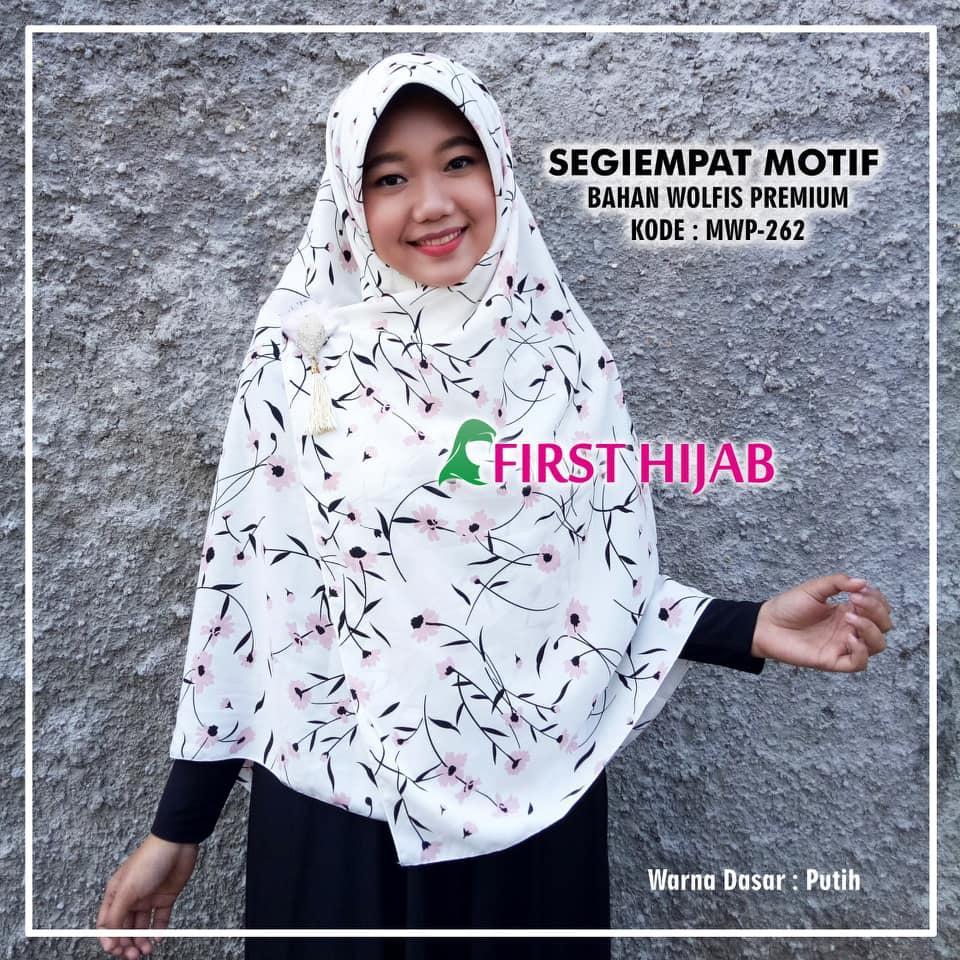 Beli Tbij Hijab Jilbab Kerudung Instan Qudwah Polos Bahan Wolfis First Segi Empat Motif Premium