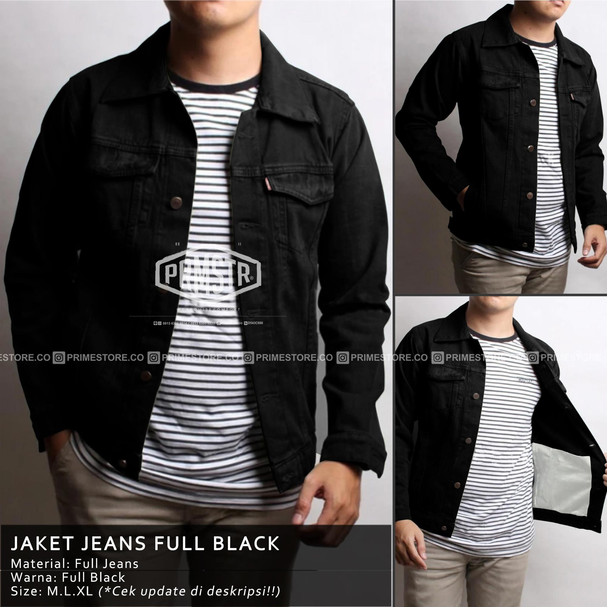 Jaket Jeans Pria Black