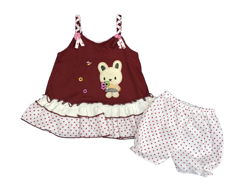 BAYIe - Setelan Baju bayi Perempuan motif RABBIT PLANET KIDS usia 0 - 6 bulan / Pakaian anak Cewek