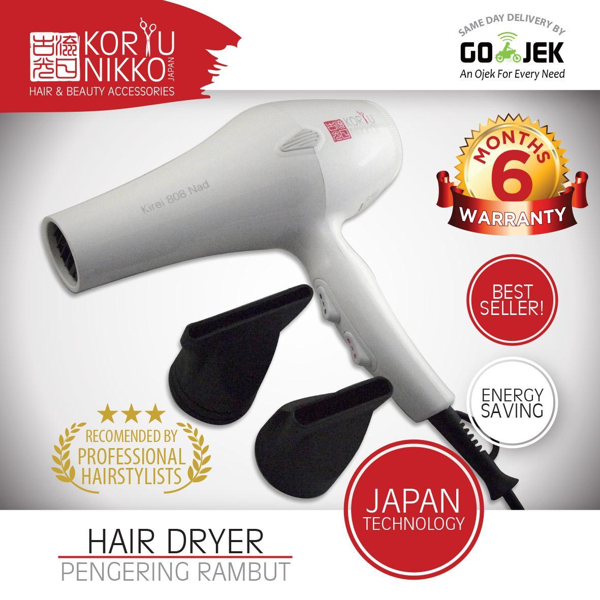Koryu Nikko Hair Dryer - Kireii Nad 808 - 1500 watt - Putih