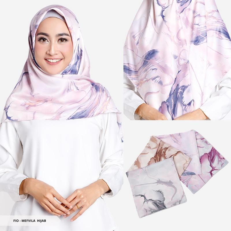 Maxzhiane Abstract Square Hijab - Baby PinkIDR25000. Rp 25.000