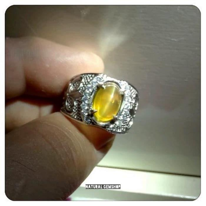 Murah Cincin Natural Cat Eye Opal Super Duper Hq Tali Laser Tajam By Natural Gemshop.