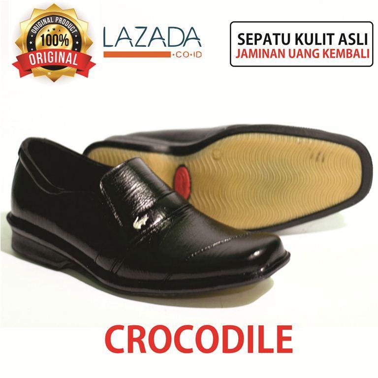 sepatu pantofel pria Crocodile hitam kantoran sepatu pantofel pria kulit  asli sepatu pria sepatu sekolah kulit ef9703bda9