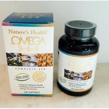 Nature's Health Omega 3-6-9 - 100 Softgel