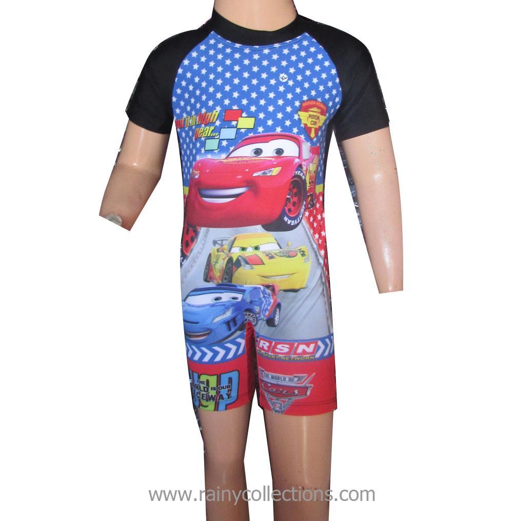 Baju Renang Anak Karakter Cars Usia 2-4 Tahun