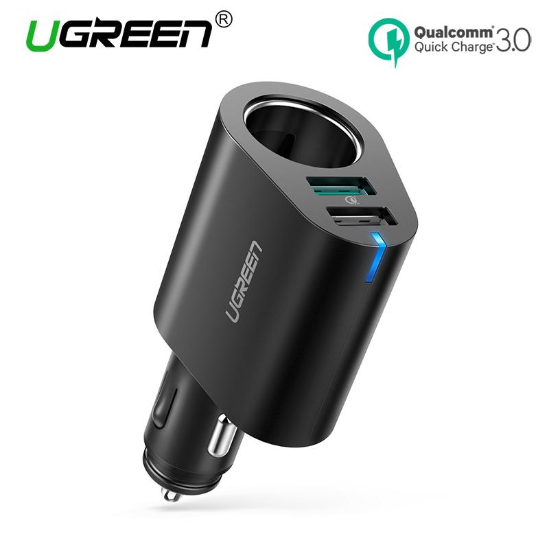 UGREEN Car Charger QC3.0 Fast Car Charger Adapter 60W Dual USB Quick 3.0 Charge USB Charger for Xiaomi Redmi VIVO OPPO LG iPhone X 8 Samsung Galaxy S9 S8 LG V20 USB Car Charger