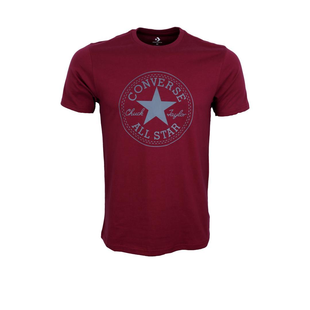 T Shirt Pria Termodis Trendi Kaos Abu Beach Pantai Cowok Converse Maroon