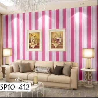 Pencari Harga NAP - Wallpaper Stiker Dinding Motif Dan Karakter Premium Quality Size 45cm X 10M SALUR PINK terbaik murah - Hanya Rp31.696