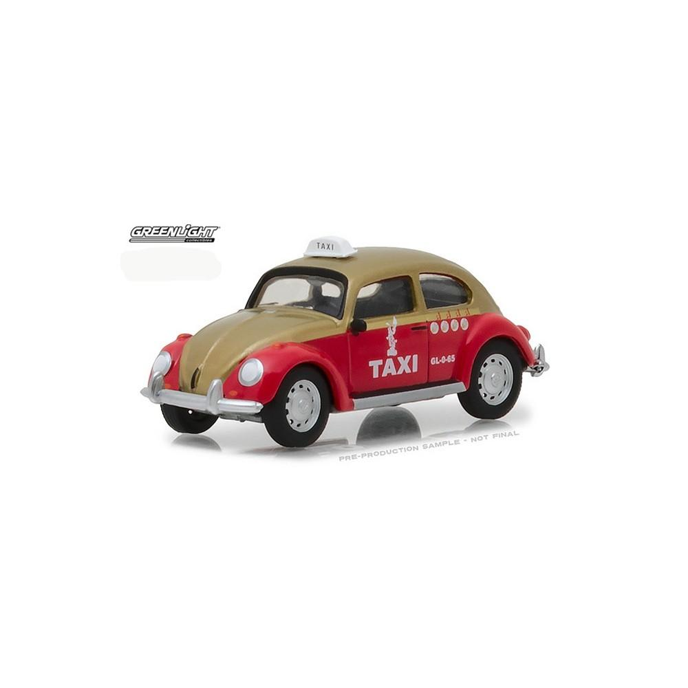 Diecast Greenlight Classic Volkswagen Beetle Mexico City Taxi Cab