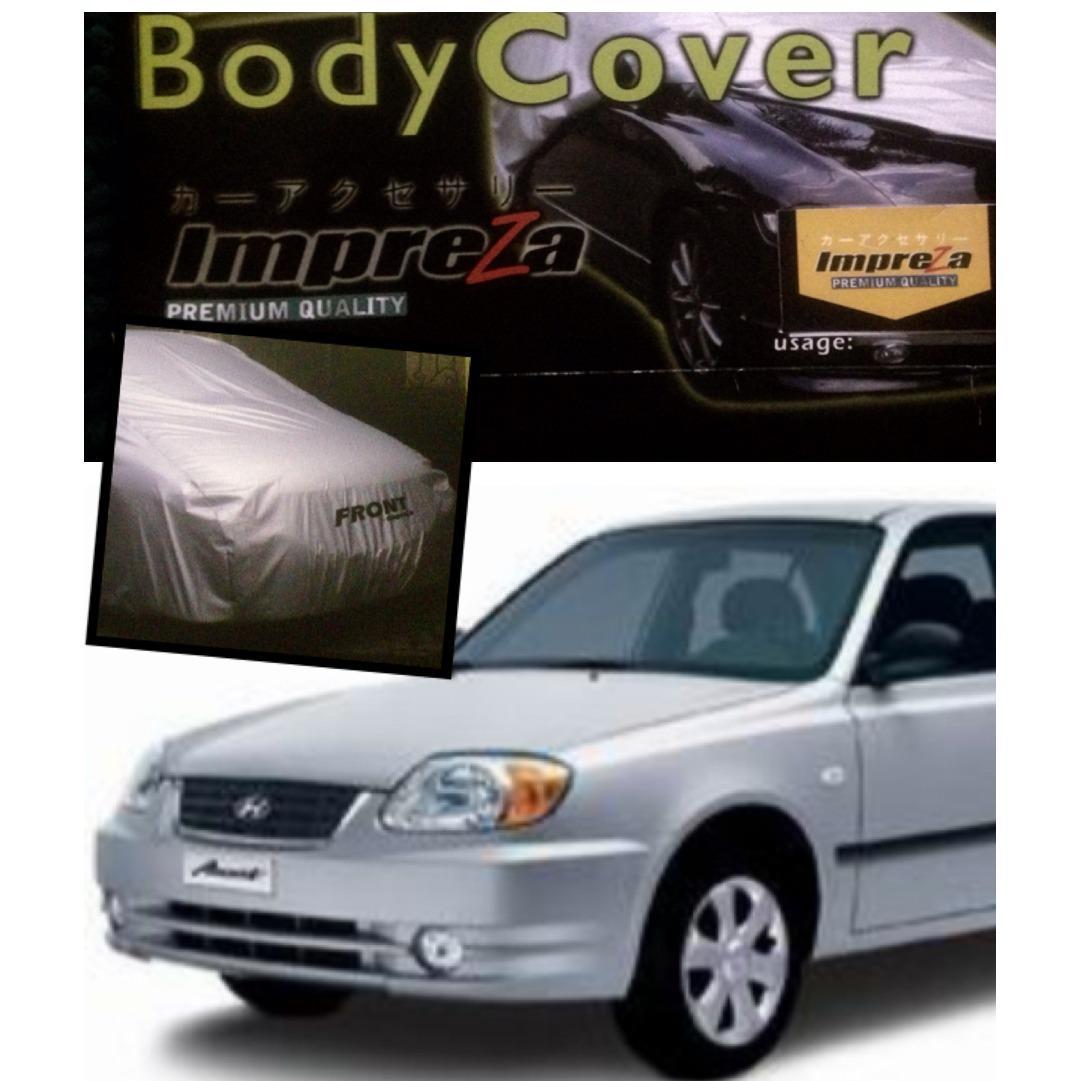 Impreza Body Cover Mobil Hyunday ACCENT Sedan - Grey/selimut mobil/pelindung mobil