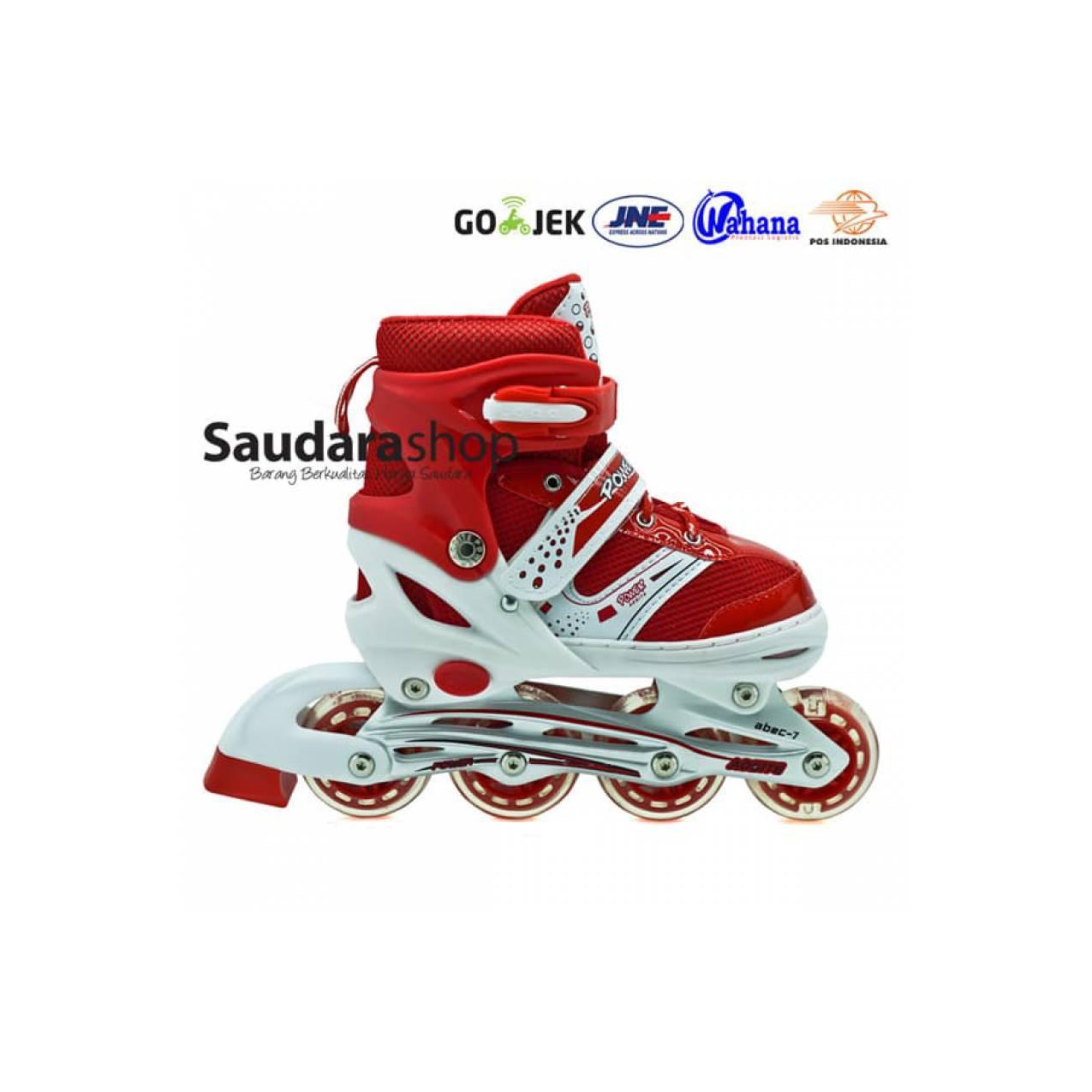sepaturoda - Sepatu Roda Murah - Sepaturoda POWER SUPER jait MERAH
