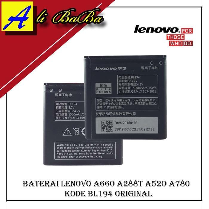 Bateri Hp Lenovo BL194 Lenovo A660 A288T A520 A780 Battery Original