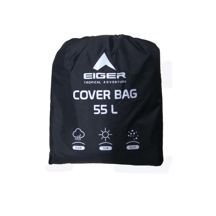 HOT PROMO!!! G897 Eiger 55L Rain Cover/ Cover Bag / Jas Hujan/ Mantel Tasa Black - HRkBdD