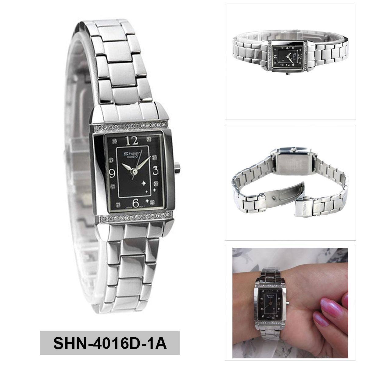 Jual Jam Tangan Casio Original G Shock Dobel Time Tahan Air Black Sheen Silver Stainless Steel Case Bracelet Ladies Shn 4016d