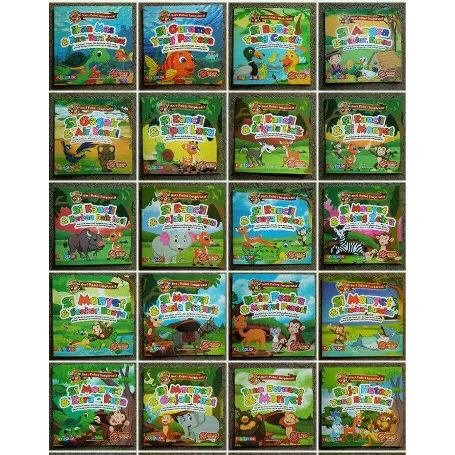 Buku Cerita Anak Seri Fabel Inspiratif Billingual - Sandro | Office