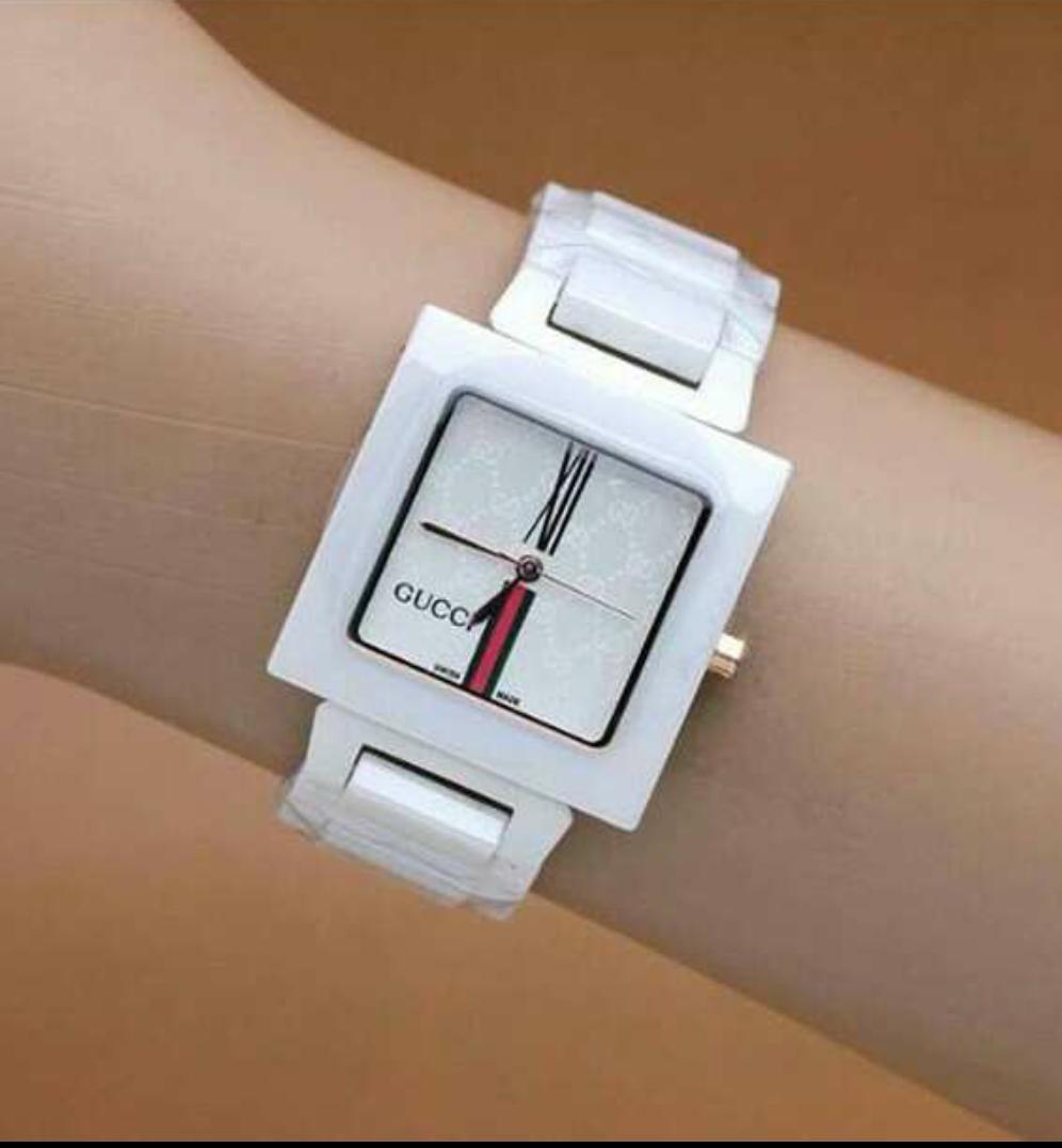 Promo jam tangan Gucci ceramik wanita terbaru termurah elegan kasual brendit