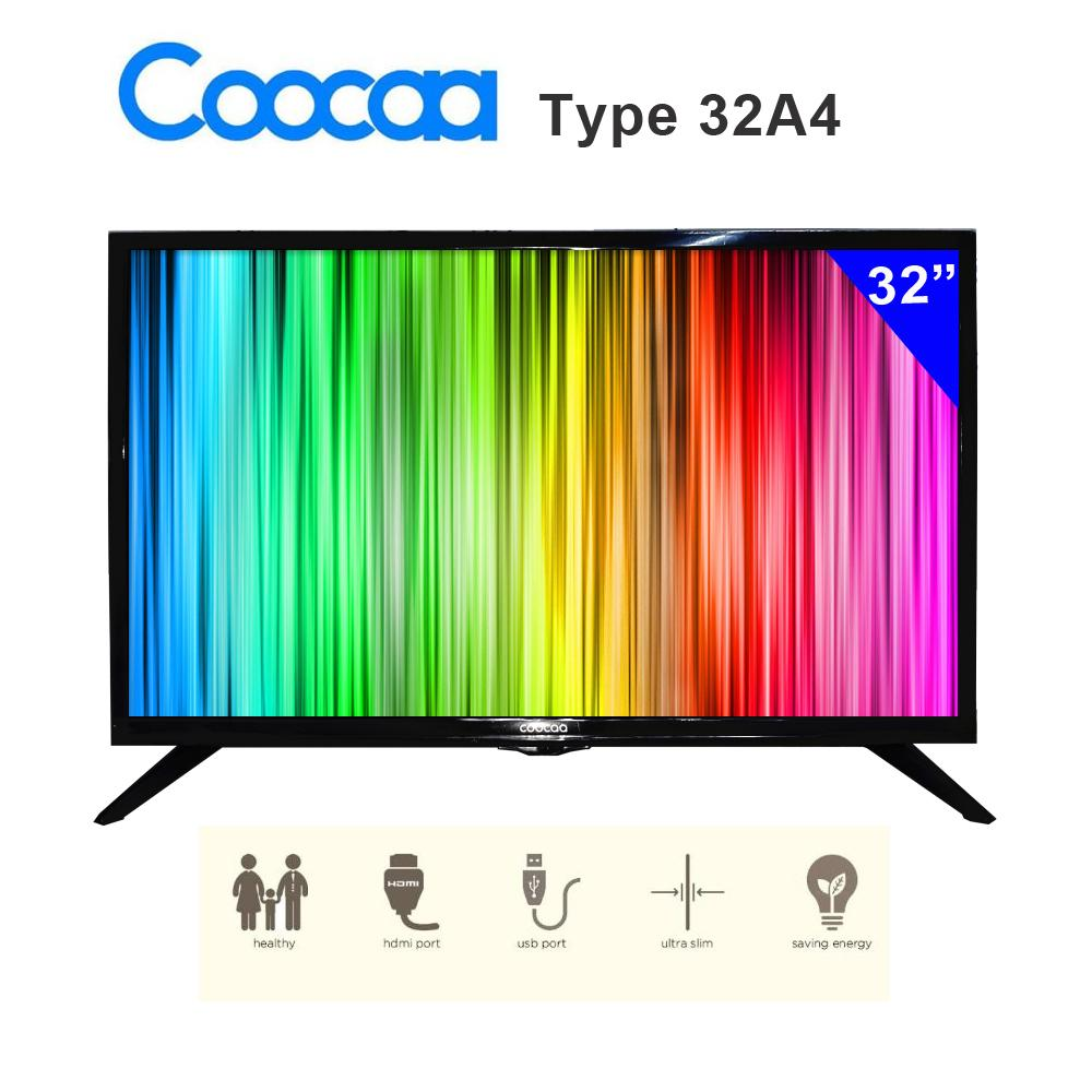 "Coocaa LED TV 32"" 32A4– Hitam"