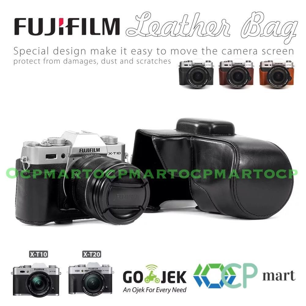Leather Case Fujifilm X-T10 X-T20 Bag Tas Kulit Fuji Xt10 Xt20 Halfcase