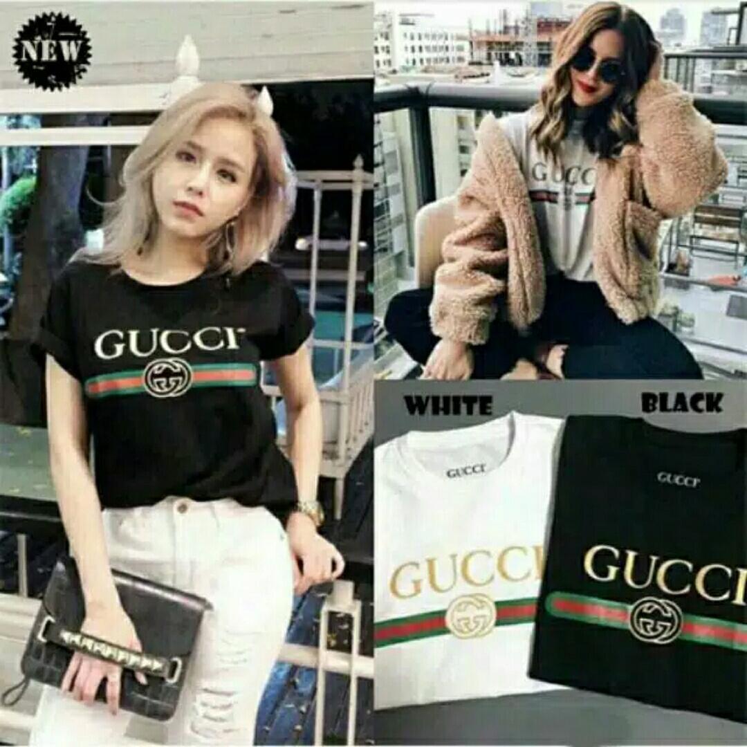 HagiosHolic R90 Gucci crop / Blouse Wanita / Atasan Wanita / Fashion Wanita / Blouse Korea