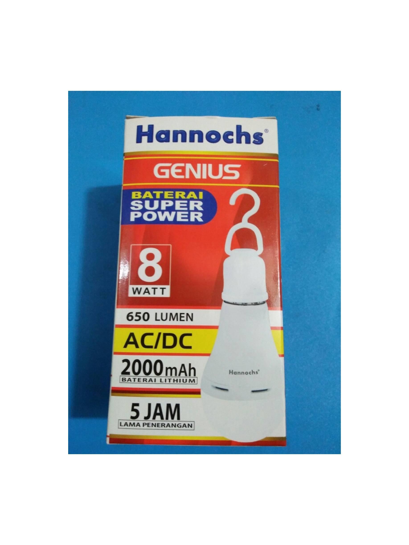 Lampu Hannochs Led Emergensi Genius 8w AC/DC