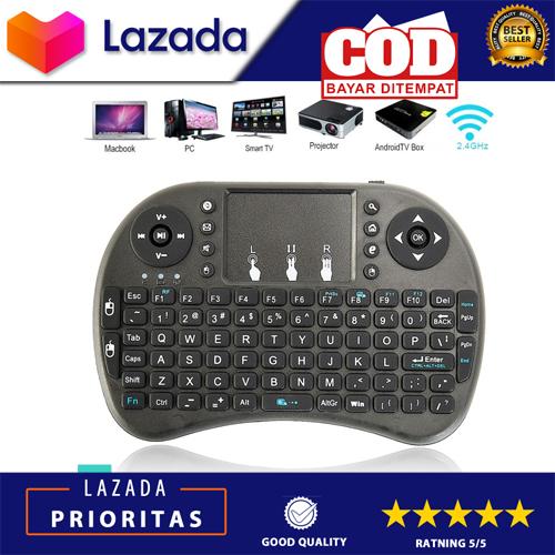 Mini Keyboard Wireless I8 2 4g Handheld Keyboard Bisa Buat Pc