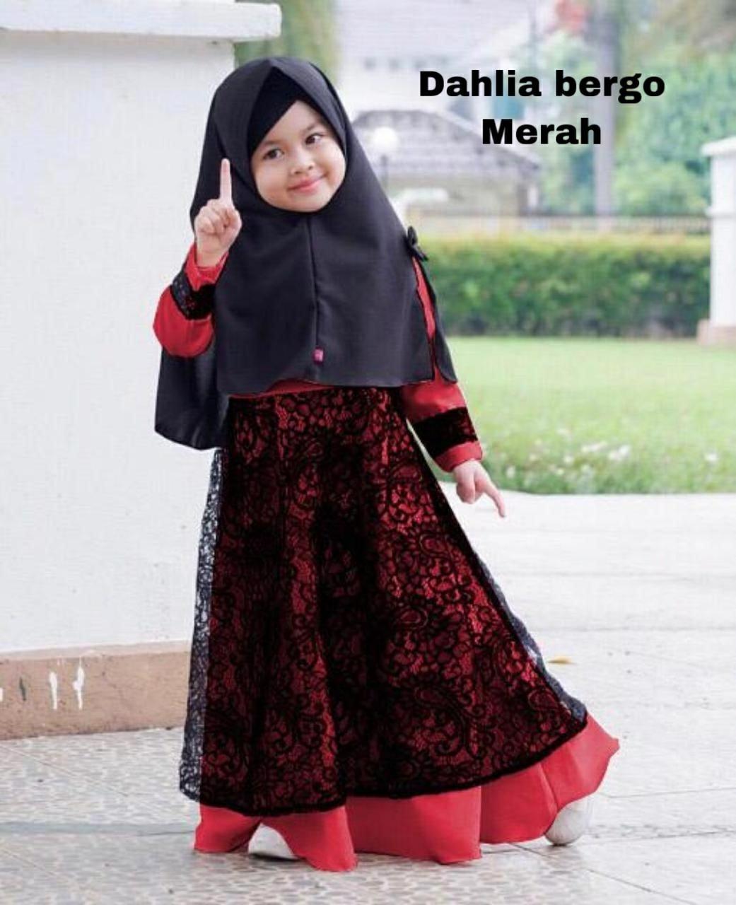 omc10syari Dahlia kid / bisa cod / dress brokat anak perempuan / gamis  brokat anak model terkini