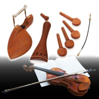 4/4 Full Size Tailpiece/Chinrest/Pegs/Endpin Set Wooden Violin Accessories