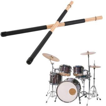 Allwin 1 pasang WoodenHot berkualitas tinggi batang Rute yang Jazz Drum stick stik Drum 40 cm