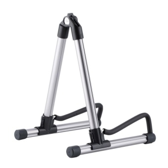 Aluminum Alloy a guitar piano ballad classical guitar frame FoldingElectric Acoustic Bass Guitar Stand A Frame Floor Rack Holder -intl