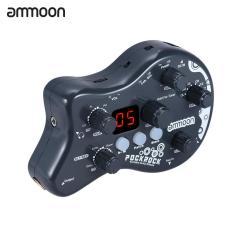 Ammoon PockRock Portable Gitar Multi Efek Prosesor Efek Pedal 15 Jenis Efek 40 Irama Drum Tuning Fungsi dengan Power Adapter-Intl