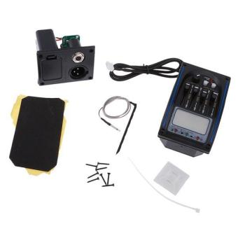 Gambar BolehDeals Acoustic Guitar 4 Band EQ Equalizer Pre wired PreampPiezo Pickup LCD Tuner intl