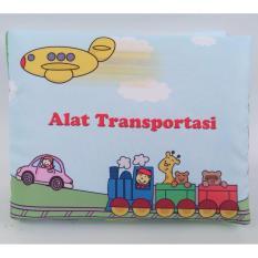 Buku Kainku Buku Bantal Kain Bayi Softbook Alat Transportasi Lucu -Washable