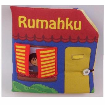 Buku Kainku Buku Bantal Kain Softbook Bayi Baby Rumahku Laki Laki -Washable