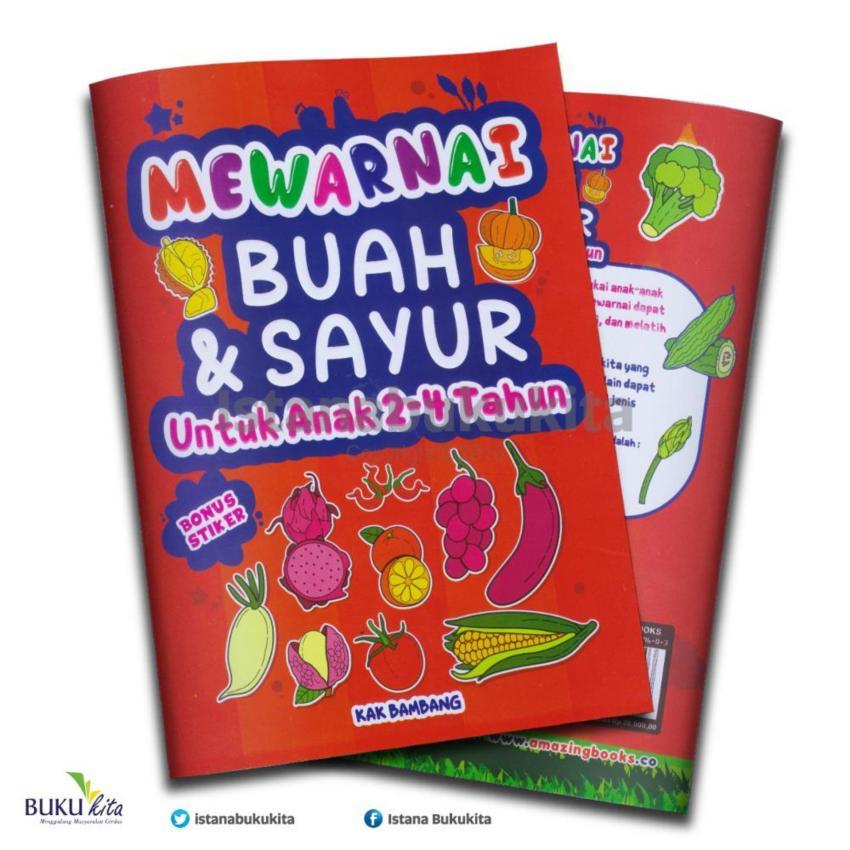 Info Harga Buku Kita Mewarnai Buah Sayur Untuk Anak 2 4 Tahun Di