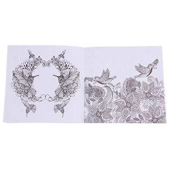 Detail Gambar HengSong Secret Garden An Inky Treasure Hunt And Coloring Book BirdMagic Mirror 24 Pages