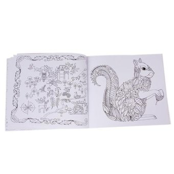 LALANG Secret Garden Magic Forest Coloring Book Black And White 4