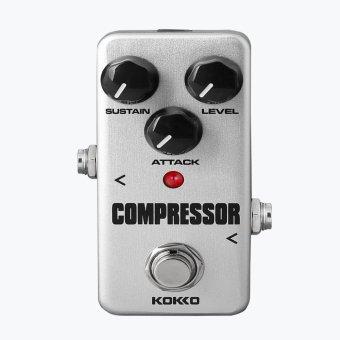 BolehDeals efek pedal Mini kompresor dengan benar memotong untuk gitar elektrik Perak .