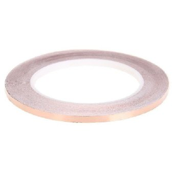 Harga Professional Electronics adhesive conductive 1CM*30M Copper Foil Tape Roll EMI Shielding for Stained Glass Art Work