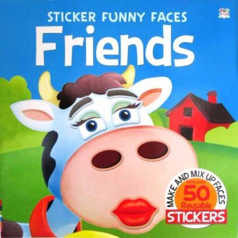 Hellopandabooks - Sticker Funny Faces FRIENDS - Make & Mix Up Faces with over 50 Reusable Stickers