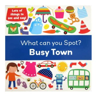 Hellopandabooks - What Can You Spot? BUSY TOWN - Look and Find Board Book (Lots of things to see and say!)