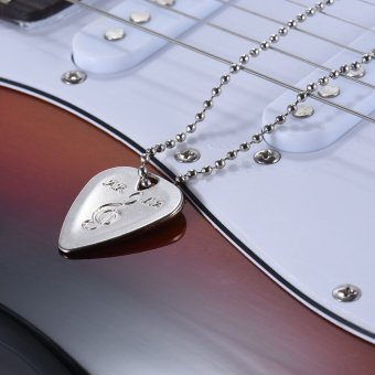 Sincetop Stainless Steel Luxury Neck Chain For Misfit Shine2 With Source · Electric Guitar Pick Necklace
