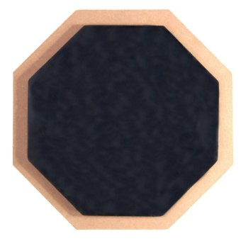 15,24 cm lembut hitam bodoh Drum Pad latihan pukulan Drum karet tatakan piring .