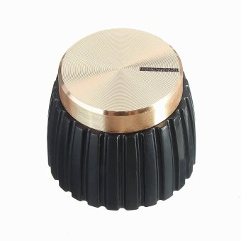 Harga Guitar AMP Amplifier Black w/ Gold Cap Push-on Knob Φ6.4mm fits for Marshall - intl