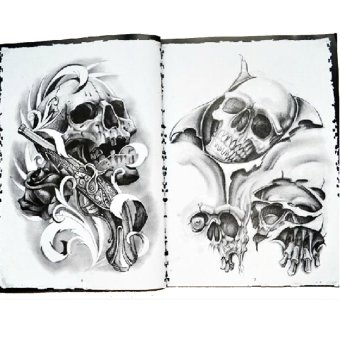 JOR Skull Design Sketch Book Tattoo Works Art Supplies A4 76 Pages- Intl