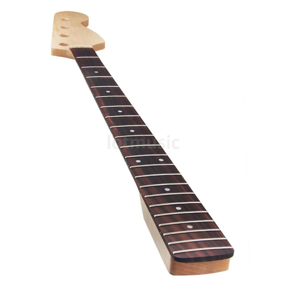... Kmise Electric Bass Guitar Neck for Fender Jazz Bass PartsReplacement Maple Rosewood 21 Fret Bolt On ...